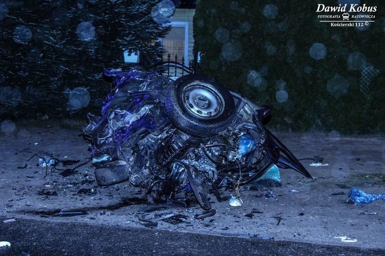 Śmiertelny wypadek w Kaliszu koło Kościerzyny 21.01.202...