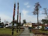 Dobroń przystrojony na święta. Olbrzymie palmy i krokusy na skwerze przy ulicach Sienkiewicza i Wrocławskiej ZDJĘCIA
