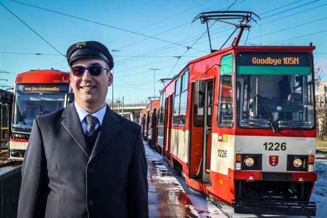 Ostatni przejazd tramwajem 105 w Gdańsku