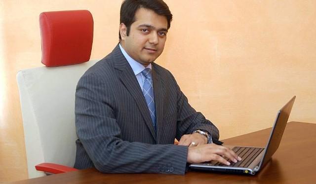 Amit Lath, hinduski biznesmen od lat mieszkający w Łodzi