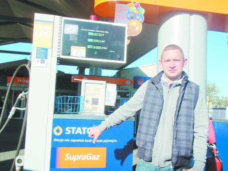 Jazda na autogazie jest coraz droższa – martwi się Artur Staniurski, kierowca z okolic Łomży. Swój samochód kupił już z instalacją LPG, ale, jak przyznaje, nad jej założeniem musiałby się zastanowić.