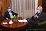 """Premier Morawiecki spotkał się z Jackiem Majchrowskim. """"Jest deklaracja wsparcia budowy Centrum Muzyki"""""""