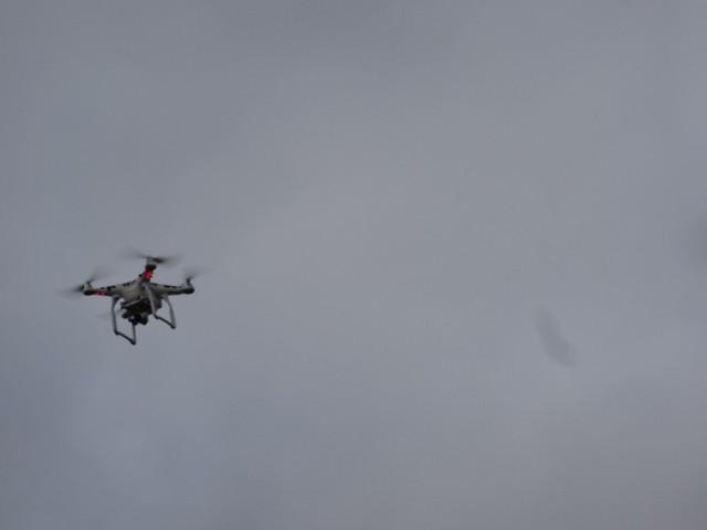 W Rzeszowie sytuację z powietrza monitorował policyjny dron.