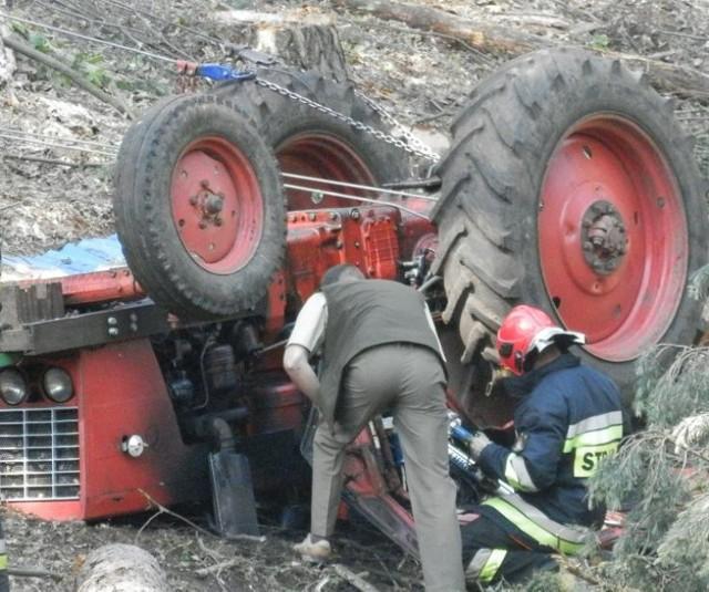 Wypadek w Błażejewie. Robotnik zginął podczas wycinki drzew