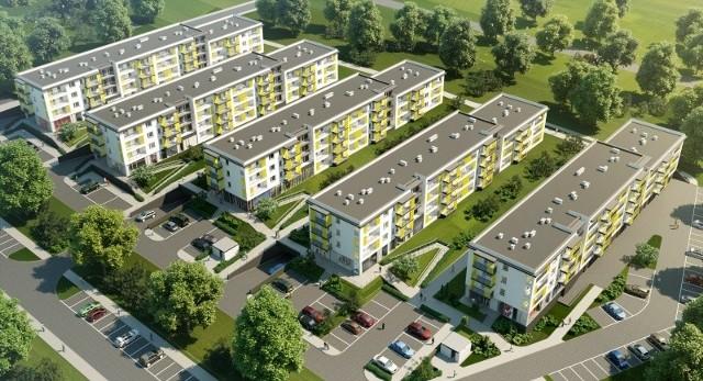 Osiedle Marina w LublinieWizualizacja bloków mieszkalnych w rejonie Zalewu Zemborzyckiego