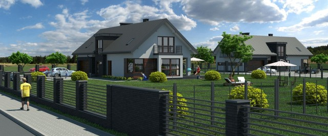 Wizualizacja jednego z przykładowych domków, które będzie budować prywatny inwestor Mahmoud Othman.