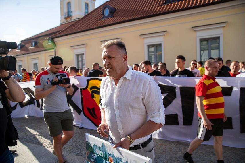 Podziękowanie kibiców Jagiellonii Białystok prezesowi...