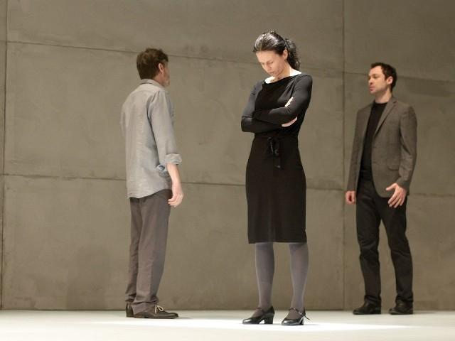 Próba przed jednym ze spektakli w Teatrze Horzycy