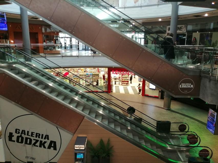 Koronawirus w Łodzi. Zamknięte sklepy w centrach handlowych.