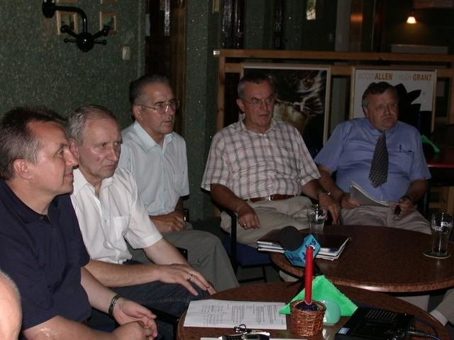 Pięciu, spośród ośmiu liderów nowego ugrupowania: (od lewej) Bogusław Wierdak, Jacek Suski, Stanisław Pawlaczyk, Józef Adamów, Tadeusz Nowacki).