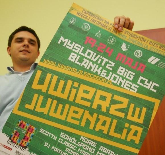 Przygotowania do Juwenaliów idą pełną parą. Na zdjęciu Marcin Wypchło, koordynator tegorocznej imprezy.
