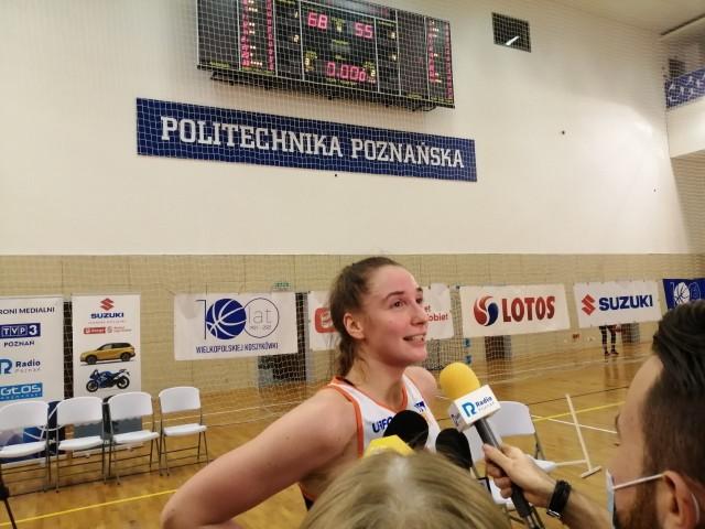 Aleksandra Parzeńska zdobyła w sobotę 19 punktów i była najskuteczniejszą zawodniczką Enei AZS