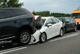 Zderzenie 5 aut w Gwieździnie (powiat człuchowski). Było groźnie, na szczęście nikt poważnie nie ucierpiał [22.08.2020]