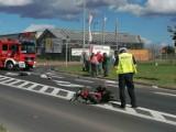 Śmiertelny wypadek na obwodnicy Wągrowca. Nie żyje motocyklista, który zderzył się z samochodem