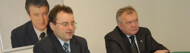 Poseł Arkadiusz Czartoryski i senator Krzysztof Majkowski
