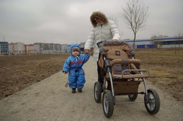 Renata Duda lubi przychodzić na spacer do parku 750-lecia