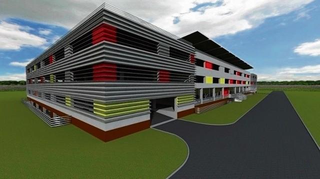 Wizualizacja wielopoziomowego parkingu w Bielsku Białej
