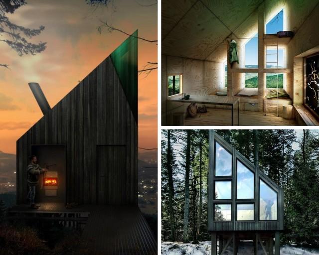 Schron na górze Łopień. Projekt wykonany przez pracownię 55 Architekci z Limanowej.