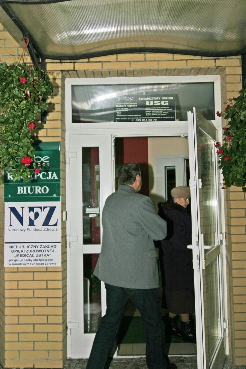 Wejście do ośrodka wypoczynkowo-rehabilitacyjnym Globe-Trot w Ustce.