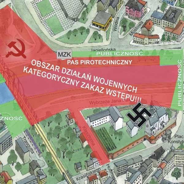 Najlepszym miejscem będzie most drogowy im. Orląt Przemyskich, czyli ten prowadzący do Rynku.