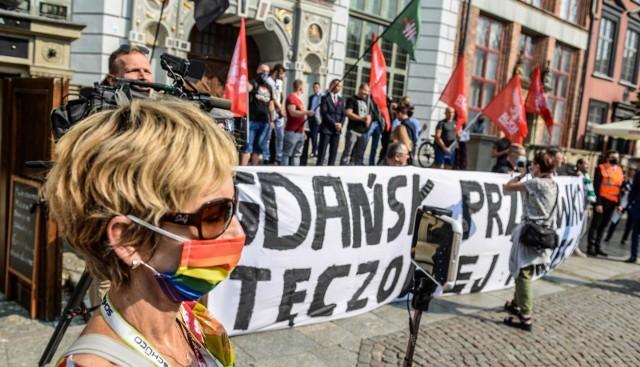 Demonstracja Młodzieży Wszechpolskiej i kontrmanifestacje w Gdańsku 12.09.2020