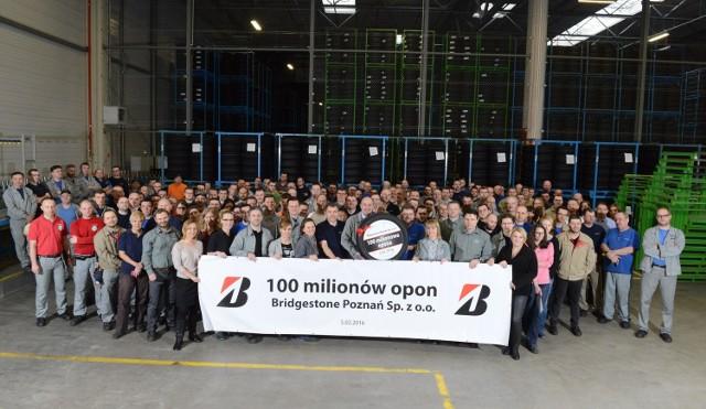 Bridgestone wyprodukowało w Poznaniu stumilionową oponę