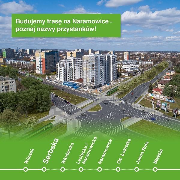 Jadąc nową trasą będziemy się zatrzymywali kolejno na przystankach: Wilczak – Serbska – Włodarska – Lechicka/Naramowicka – Naramowice – os. Łokietka – Jasna Rola – Błażeja.
