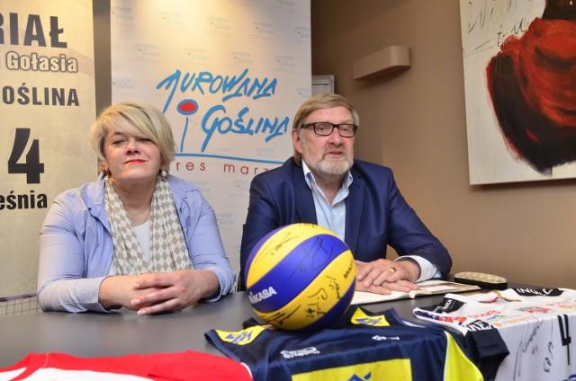 Anna Sumelka i Józef Golenia na środowej konferencji w hotelu Illonn