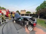 Wypadek pod Wierzbicą. Kierowca był nietrzeźwy i nie miał uprawnień do kierowania