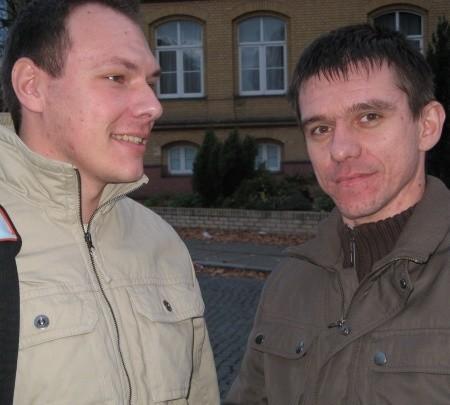 Marek Szulczewski (od lewej) i Marek Pych ze swoją stroną rzepin.net trafili w dziesiątkę