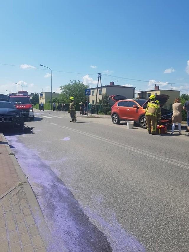 Straty spowodowane zderzeniem dwóch aut w Unisławiu oszacowano na 60 tys. złotych
