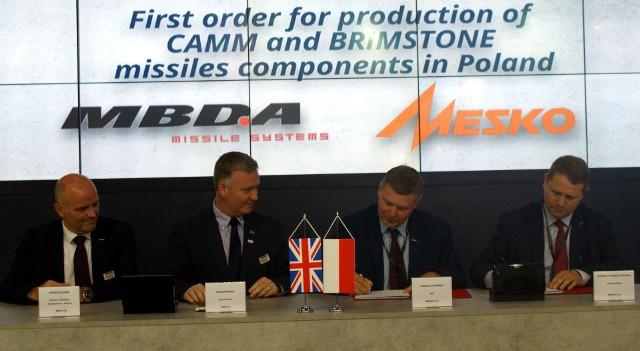 Czwartek 5 września - - moment podpisania umowy MBDA - MESKO