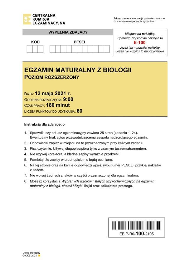 Matura 2021. Co było na rozszerzonej biologii?