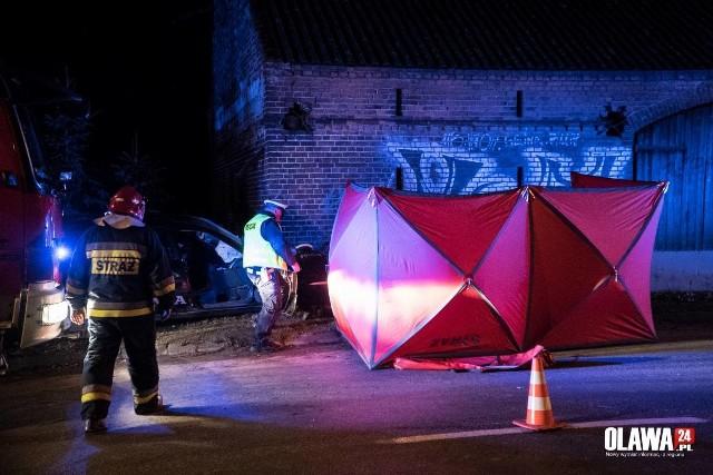 Śmiertelny wypadek w miejscowości Łęg w okolicach Jelcza-Laskowic