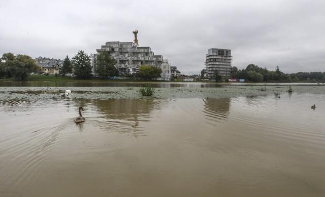 Przez intensywne opady deszczu rośnie poziom Wisłoka w Rzeszowie