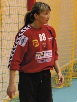 Dorota Krzymińska (SPR Olkusz) świetnie broniła w meczu z Olimpią/Sądeczaninem Nowy Sącz, ale jej zespół doznał porażki Fot. Artur Bogacki