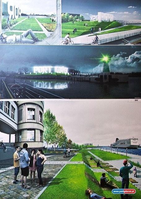 Gdański port z terenami zielonymi dla wszystkich