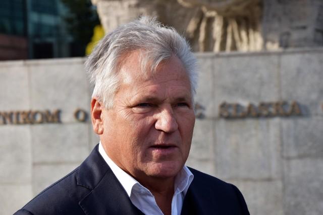 Aleksander Kwaśniewski w Opolu. Przyjechał zachęcać do głosowania na kandydatów Lewicy w wyborach parlamentarnych 2019