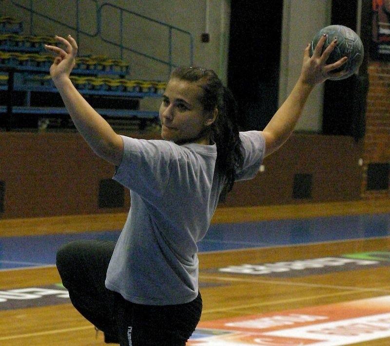 Natalia Brzezińska w trakcie treningu Słupi.