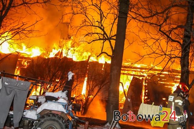 Pożar domu w Siedliskach