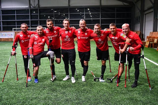 Zawodnicy sekcji amp futbolu Wisły Kraków podczas zgrupowania reprezentacji w Machnicach