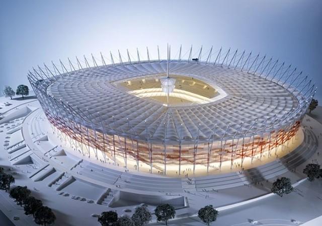 Kielecki Fabet dostarczy na Stadion Narodowy w Warszawie elementy prefabrykowane. fot. Fabet
