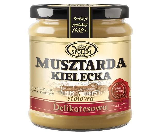 Nasze Dobre Świętokrzyskie 2013. Musztarda kielecka WSP Społem w KielcachMusztardy Kieleckie, od lat cenione przez konsumentów w całym kraju, kupimy teraz w słoiczkach nawiązujących kształtem do dawnych opakowań.