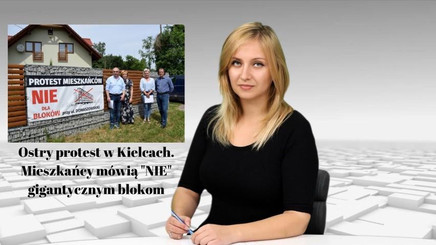 Wiadomości Echa Dnia. Ostry protest w Kielcach. Mieszkańcy nie chcą gigantycznych bloków