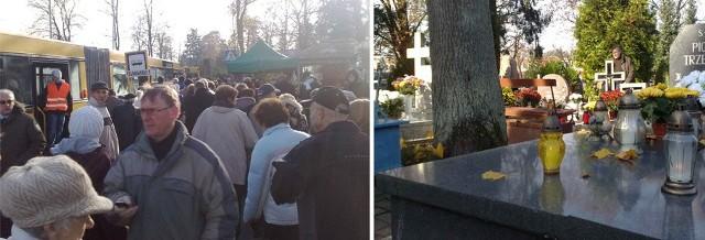 Koszalinianie tłumnie przybywają na groby bliskich