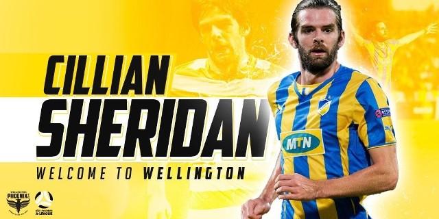 Cillian Sheridan zagra w Wellington Phoenix