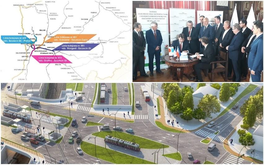 Gigantyczna kasa na Szczecińską Kolej Metropolitalną. Ponad pół miliarda złotych - zobacz, co za to zrobią [WIZUALIZACJE]