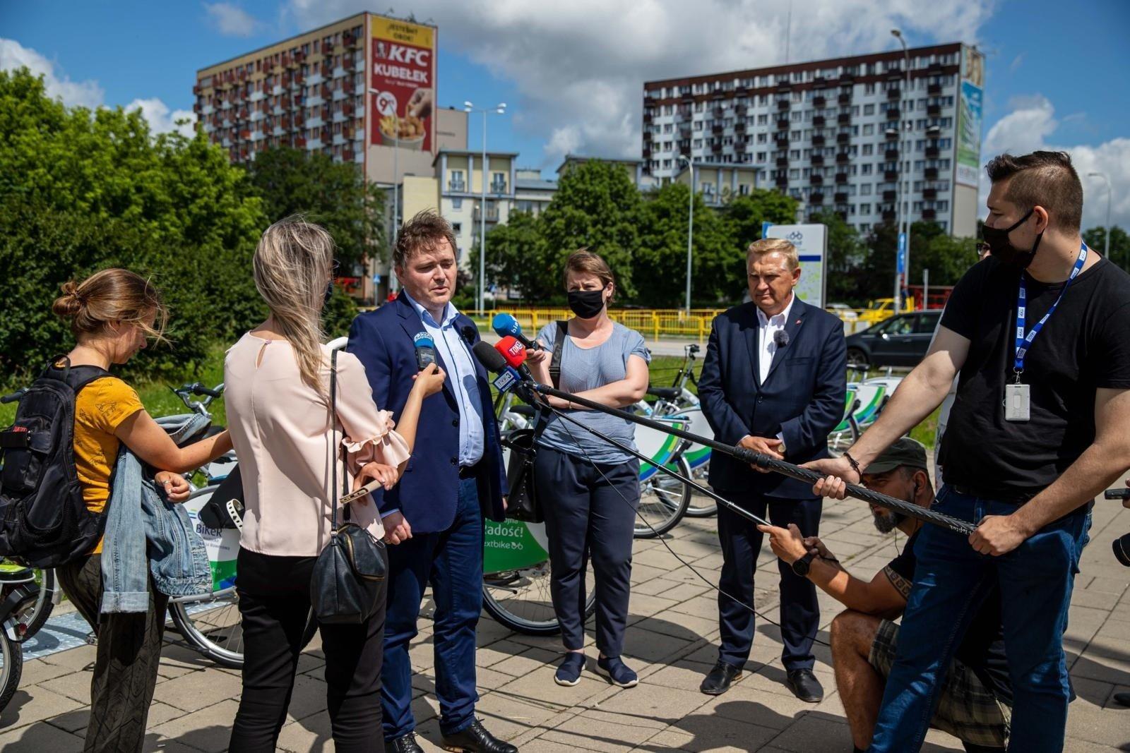 Białystok. Rowery miejskie wracają na ulice. Za bikery
