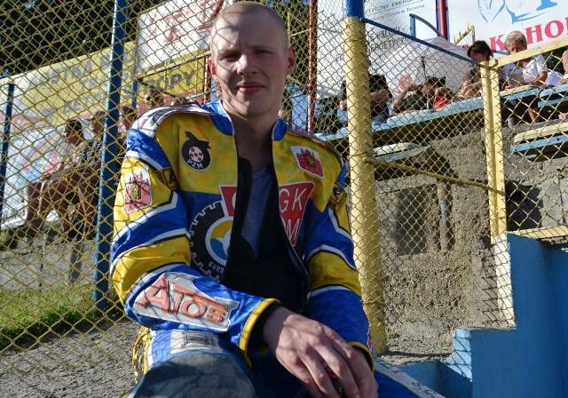 Mateusz Rujner, junior MRGARDEN GKM Grudziądz ma uraz obojczyka i musi pauzować.