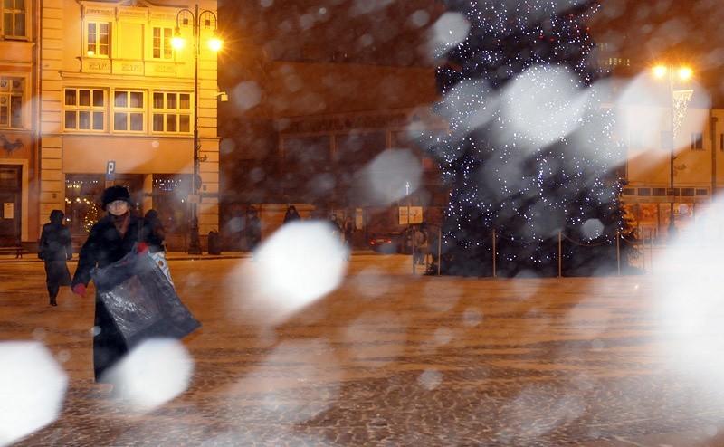 Opady śniegu w Bydgoszczy